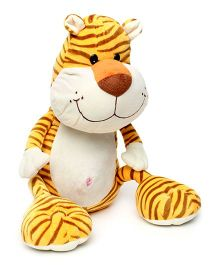 Play N Pet Tiger Soft Toy Yellow - Length 32 cm