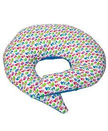 Morisons Baby Dreams Feeding Pillow Elephant Print - Blue