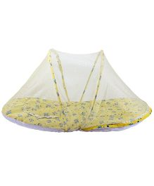 Morisons Baby Dreams Mattress Set With Mosquito Net Bee Theme - Yellow