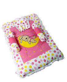 Morisons Baby Dreams Baby Bed Set Bunny Print - Pink