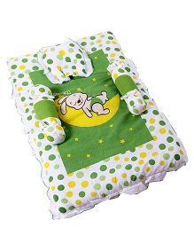 Morisons Baby Dreams Baby Bed Set Bunny Print - Green