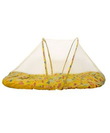 Morisons Baby Dreams Mattress Set With Mosquito Net Carb Theme - Yellow