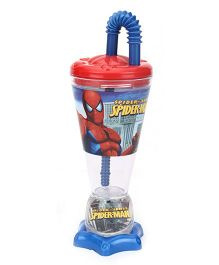 Spider Man Trophy Shape Sipper Tumbler Blue - 200 ml