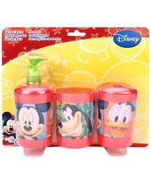Mickey Mouse And Friends 3 Piece Bathroom Set - Red