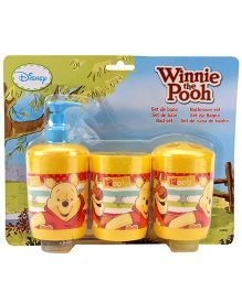 Winnie the Pooh 3 Piece Bathroom Set - Yellow