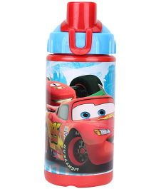 Disney Pixar Cars Pop Up Straw Bottle Red - 380 ml