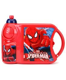 Marvel Spider Man Lunch Box And Water Bottle Set - Red