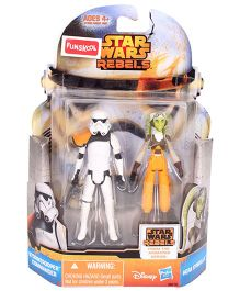 Funskool Star Wars Rebels Hera Syndulla And Stormtrooper Commander - Multi Color