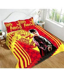 DCTex Furnishings 220 TC Cotton Harry Potter King Bed Sheet - Red