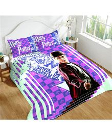 DCTex Furnishings 220 TC Cotton Harry Potter King Bed Sheet - Purple