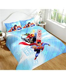 DCTex Furnishings 220 TC Cotton Justice League King Bed Sheet
