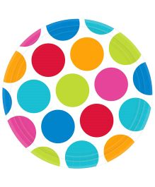 Wanna Party Cabana Polka Dots Party Plates Multi Color - Pack Of 8