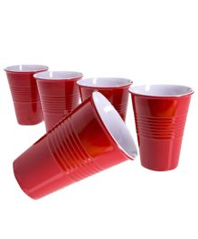 Wanna Party Plastic Cups Pack Of 20 Red - 16oz