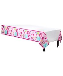 Wanna Party Plastic Tablecover Pink - L 108 x B 54 Inches,