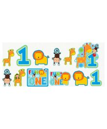 Wanna Party First Birthday Cutout Blue - Pack Of 12