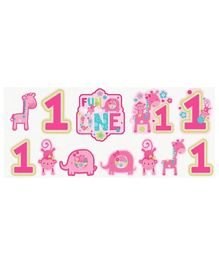 Wanna Party First Birthday Cutout Pink - Pack Of 12
