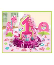 Wanna Party Table Decoration Kit Pink - 23 Pieces