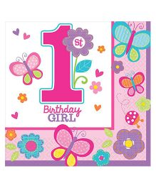 Wanna Party Sweet Birthday Girl Beverage Napkins - Pack Of 16