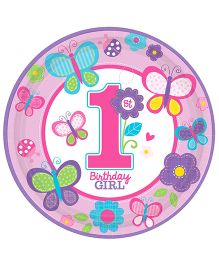 Wanna Party Sweet Birthday Paper Plate - Pack Of 8