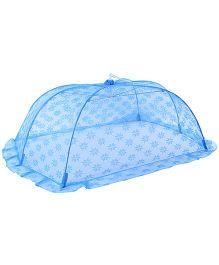 Babyhug Mosquito Net Floral Design Blue - Large
