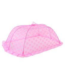 Babyhug Mosquito Net Floral Design Pink - Large