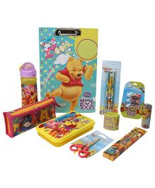Winnie The Pooh School Kit Multicolour - Pack of 10