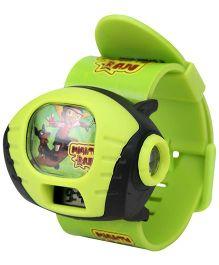 Chhota Bheem Plastic LCD Projector Wrist Watch - Green