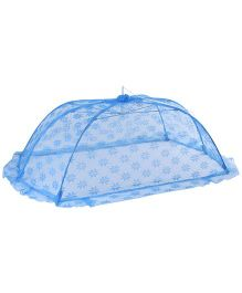 Babyhug Mosquito Net Floral Design Blue - Medium
