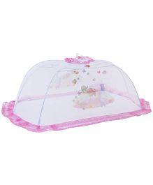Babyhug Mosquito Net Multi Print White And Pink - Large