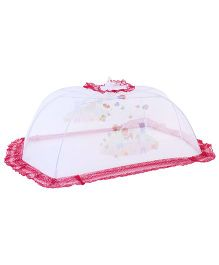 Babyhug Mosquito Net Multi Print White And Red - Large