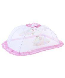 Babyhug Mosquito Net Multi Print White And Pink - Medium