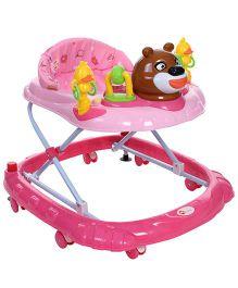 My First Musical Baby Walker Animal Design Pink - MF-20221
