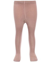 Bonjour Solid Footed Stocking Tights - Beige