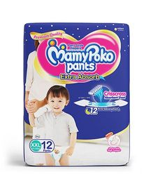 Mamy Poko Extra Absorb Pant Style Diapers Extra Extra Large - 12 Pieces
