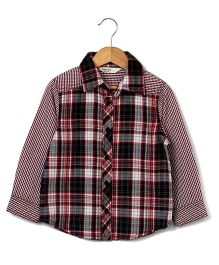Beebay Yarn Dyed Checked Shirt - Maroon