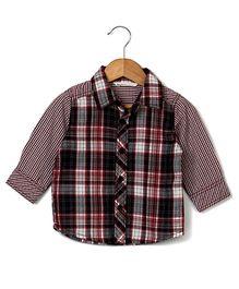 Beebay Yarn Dyed Checked Shirt - Maroon