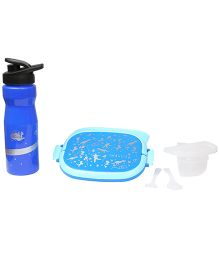 Imagica Combo Set Of Oval Lunch Box And Water Bottle - Blue