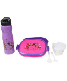 Imagica Combo Set Of Lunch Box And Water Bottle - Purple