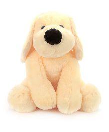 Dimpy Stuff Snowy Dog Soft Toy Cream - Length 64 cm
