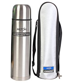 Milton Thermosteel Flask With Case Silver - 350 ml