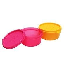Tupperware Tropical Twins Set Of Two Pink And Yellow - 230 Ml