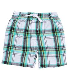 Jumping Beans Aqua Checkered Shorts