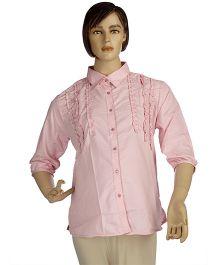 Mama & Bebe Maternity Printed Shirt - Pink