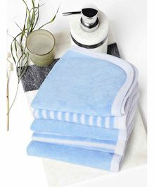 My Milestones Premium Wash Cloths Set Of 5 - Blue