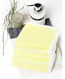 My Milestones Premium Wash Cloths Set Of 5 - Lemon Yellow