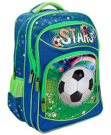 Bags & Baggage School Bag Football Graphic Blue - Height 17 Inches