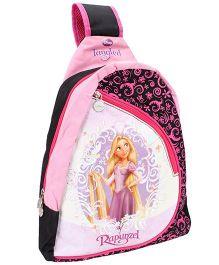Disney Triangle Style Single Strap School Bag Rapunzel Print Black -