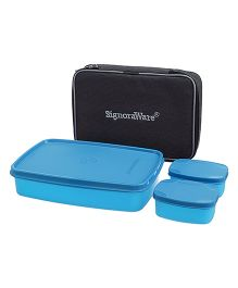 Signoraware Compact Lunch Box With Bag - Blue