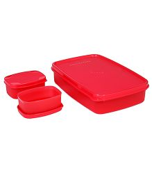 Signoraware Compact Lunch Box Red - 850 ml