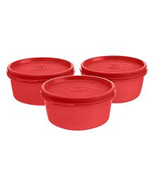 Signoraware Tiny Wonder Containers Red Set of 3 - 600 ml